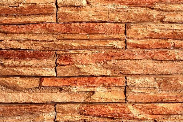 Umelý kameň skala ohnivá oranžovočervená