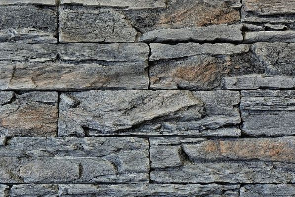 Umelý kameň skala zvrásnená antracit