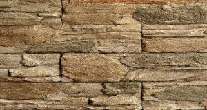 Umelý kameň skala zvrásnená hnedastý melír